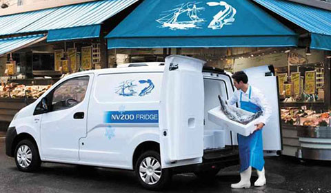 nissan nv 200 frigo un v hicule frigorifique en sortie d usine. Black Bedroom Furniture Sets. Home Design Ideas